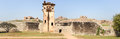 Watch tower of royal fort zenana enclosure at hampi on india Royalty Free Stock Image