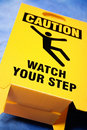 Watch your step sign Stock Photo