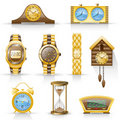 Watches icon set. Royalty Free Stock Photos