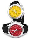Watches render of on white Stock Image