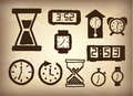 Watchs icons over vintage background vector illustration Stock Photography
