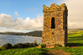 The watchtower dingle norman era relic on bay kerry ireland Royalty Free Stock Images