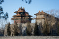 The watchtower of the imperial place below sunshine and blue sky in winter Royalty Free Stock Photo