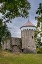 Strážna veža a stredoveký z hrad,