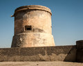 Watchtower spain abandon in san miguel cabo de gata Royalty Free Stock Photography