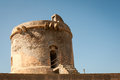 Watchtower spain abandon in san miguel cabo de gata Stock Image