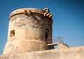 Watchtower spain abandon in san miguel cabo de gata Stock Images