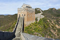 Watchtower at sunset at Jinshanling Great Wall, northeast from Beijing. Royalty Free Stock Photo