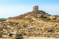 Watchtower in Tharros Royalty Free Stock Photo