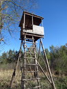 Watchtower wooden in the forest Stock Photography
