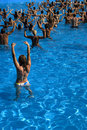 Water aerobics class Royalty Free Stock Photo