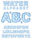 Water alphabet. Royalty Free Stock Photo