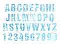 Water alphabet. water letters set. Royalty Free Stock Photo