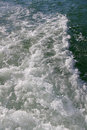 Water from back of boat Royalty Free Stock Photos