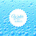Water background with bubbles colourful blue vector illustration Stock Photography