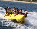 Water banana.Extreme water sports. Royalty Free Stock Photo