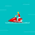 Water bike vector illustration.
