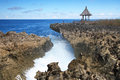 Water blow nusa dua bali indonesia beautiful rocky beach at Royalty Free Stock Image