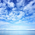 Water and blue sky photo Royalty Free Stock Photos