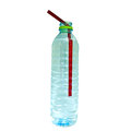 Water bottle and tube isolated on white Stock Photo