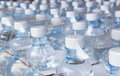 Water bottles in plastic wrap Royalty Free Stock Photo