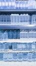 Water bottles on shelf Royalty Free Stock Photo
