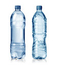 Water bottles two on white background Stock Photography