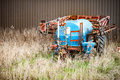 Water bowser parked large in a farm yard Royalty Free Stock Photos