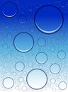 Water bubbles on a blue background Royalty Free Stock Photos