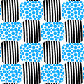 Water bubbles and stripes beach seamless pattern Royalty Free Stock Photo