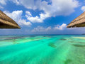 Water bungalows in paradise Royalty Free Stock Photo