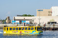 Water bus dubai on al khor creek uae united arab emirates Stock Image