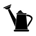 Water can gardering equipment pictogram Royalty Free Stock Photo