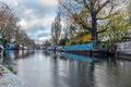 Water Canal and reflections in Little Venice in London - 2 Royalty Free Stock Photo