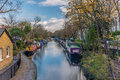 Water Canal and reflections in Little Venice in London - 4 Royalty Free Stock Photo