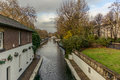 Water Canal and reflections in Little Venice in London - 8 Royalty Free Stock Photo