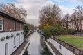 Water Canal and reflections in Little Venice in London- 7 Royalty Free Stock Photo