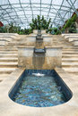 Water cascade feature with granite and ceramic tile Royalty Free Stock Photos
