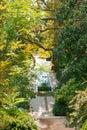Water cascade in nikitsky botanical garden crimea Royalty Free Stock Images