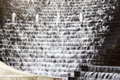 Water cascading down steps - feathery Royalty Free Stock Photo