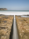 Water Channel in the Beach Royalty Free Stock Photo