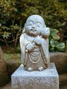 Water children sculpture in Hasedera temple Kamakura Royalty Free Stock Photo