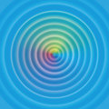 Water Circular Waves Rainbow Surface Royalty Free Stock Photo