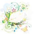 Water Color Floral Royalty Free Stock Photo