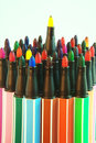 Water color pens Stock Image