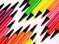 Water color pens Royalty Free Stock Photography