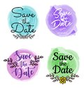 Water color save the date Logo Templates for Wedding Planner