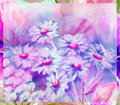 Water colour, flowers bouquet Stock Photos