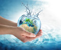 Water conservation in europe environment concept Stock Image