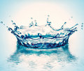 Water corona Royalty Free Stock Images